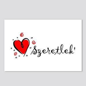 """""""I Love You"""" [Hungarian] Postcards (Package of 8)"""